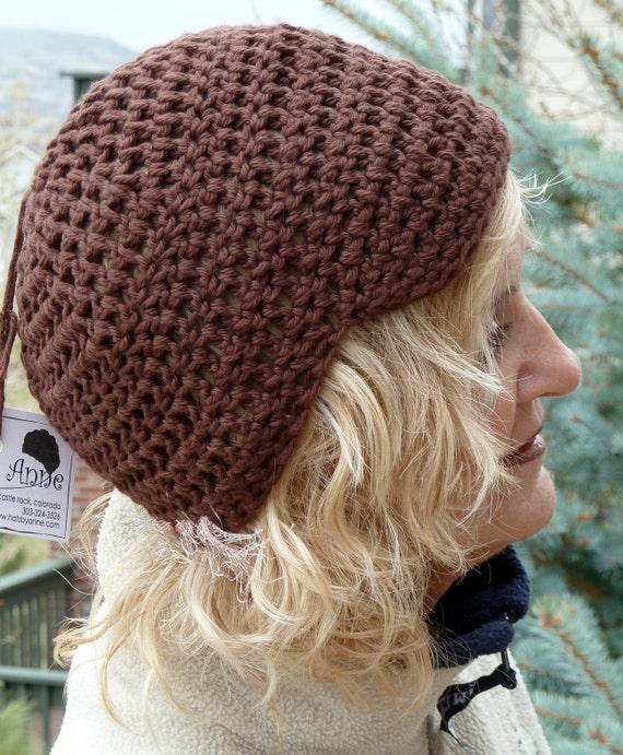 Women Fashion / Bohemian Accessories / Brown Newsboy Hat / Cotton Crochet Hat / Women Hat