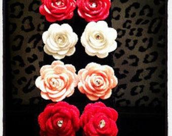 In Bloom Rose Earrings
