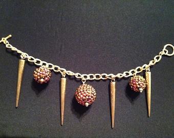 Spikes and Glitter Bracelet