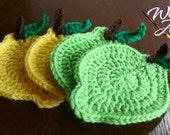 Crochet Lemon/Lime Coasters