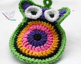 Crochet Owl Potholder