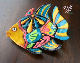 Polymer Clay Colorful Fish Trinket/Jewelry/Loose Change/Miscellaneous Holder