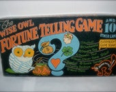 The Wise Owl Fortune Telling Game  - a Rare Board Game by Whitman