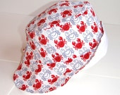 Baby sun hat adjustable - Crabby -  12m to 2 years