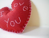 I Love You Valentine Heart Pillow