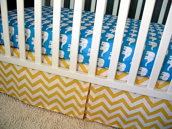Custom Crib Bedding, Sheet/ Skirt/ Changing Pad Cover, Modern Baby Bedding