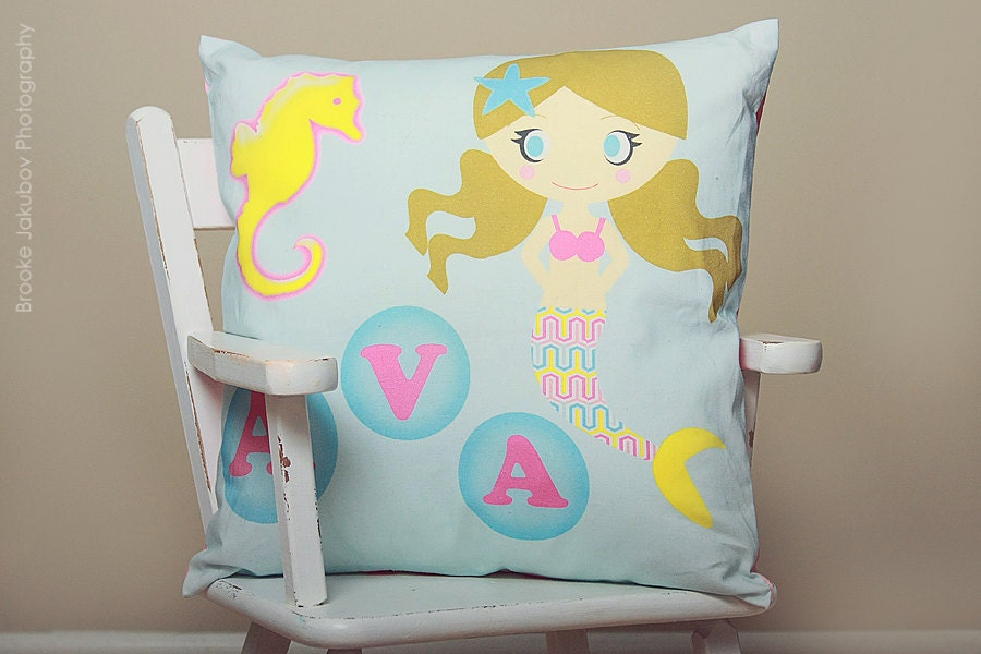 Modern Initial Pillow : Personalized Pillow Modern Personalized Toddler Pillow