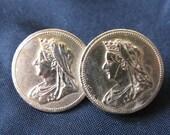 Queen Victoria Coin Brooch - Original