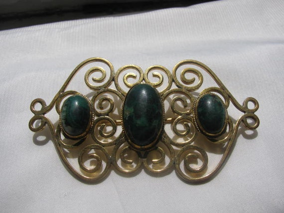 Victorian Brooch With Eliat Stone