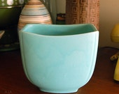 Haeger Seafoam Green Pottery Vase Planter Vintage