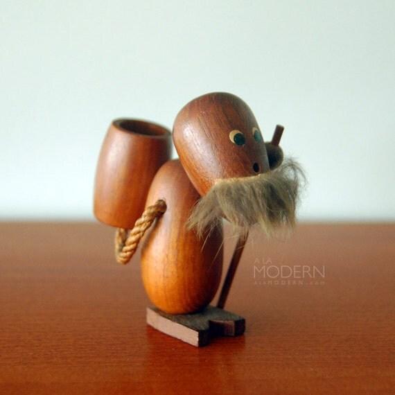 Teak Viking Hiker Bolling Bojesen Style Wooden Toy Japan