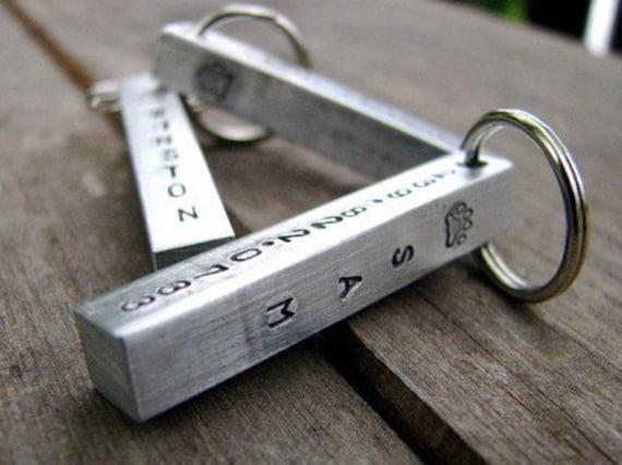 Custom Pet ID Tag Bar in Hand Stamped Aluminum