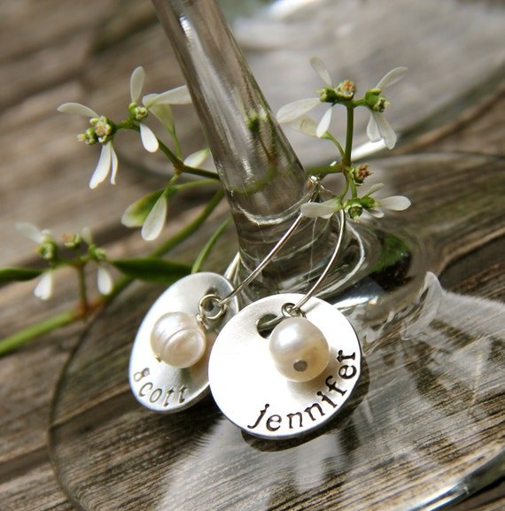 Set of 13 - Custom Wine Charms, Date on the Back. Perfect for Wedding Gift, Bridal Shower, Anniversary
