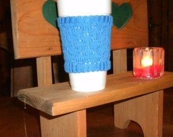 Blue cotton cup cozy