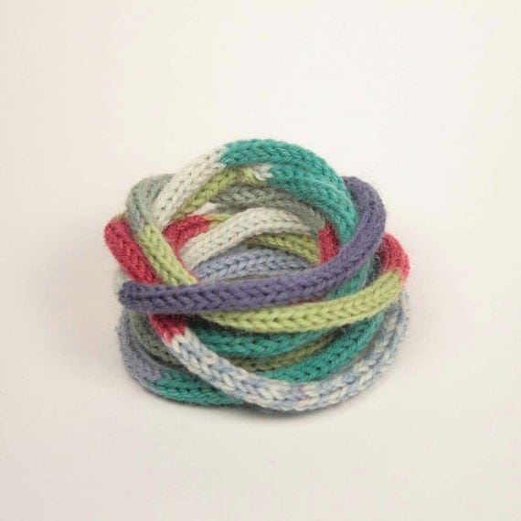 Preppy Blues Knit Bracelet/Necklace