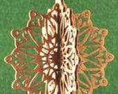 3-D Wood Sunburst Ornament