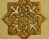 Wood Willow Snowflake Ornament