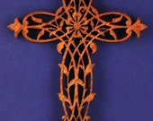 Wood Leaf Cross - Small