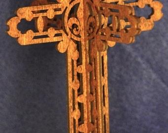Standing 3D Fleur de Lis Cross