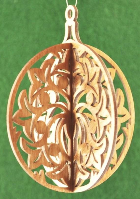 3-D Wood Tulip Ornament