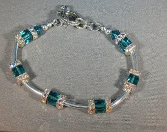 Beautiful green crystal bracelet