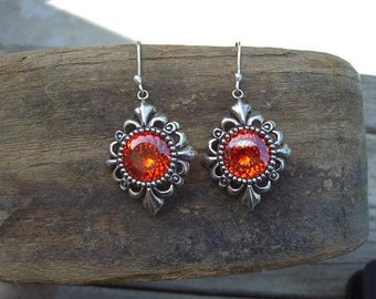 Medieval earrings insterling silver