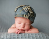 Baby boy hat newsboy plaid- Chasin' the Blues Cap - allthingsforbaby