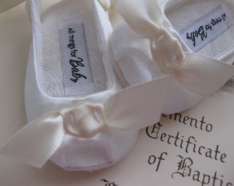 Flower girl shoes ivory baby shoes toddler girls shoes girls baptism shoes girls christening shoes baby sandals - Sweet Isabel Ivory