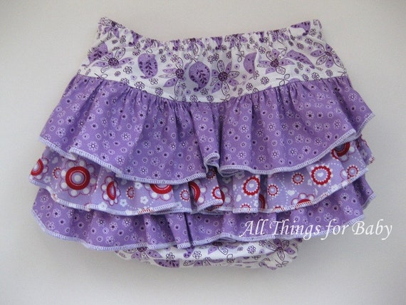 SALE 50% OFF Baby girl diaper cover ruffled- Courtney
