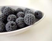 All Natural Dark Gray Crochet Beads 12Pcs