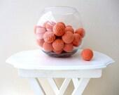 Big Peach Bowl Filler Balls 6Pcs (Without Holes)