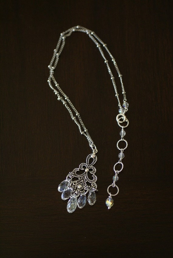 Moonlight Crystal Chandelier Necklace