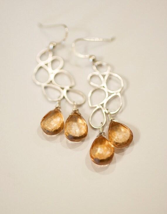 Champagne Quartz Bubbly Earrings