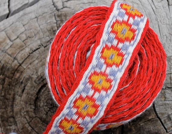 Tablet Woven Trim, Tablet Weaving, Card Weaving, Medieval Trim, Tablet Woven Belt, Card Woven Belt