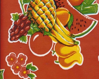 Cane Red OilCloth - Yardage