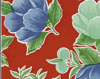 Poppies on Red Oilcloth  - yardage