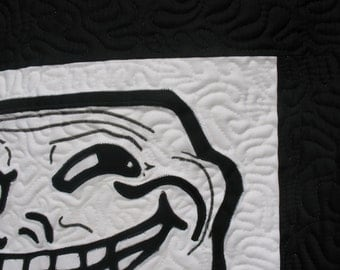 Trollface Small Quilt