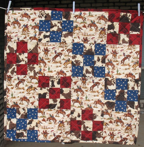 Reversible Cowboy Baby Quilt