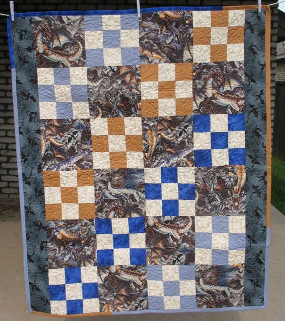 Dragon's Lair Lap Quilt