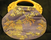 Vintage Oriental Fabric Small Purse