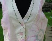 SALE 40% off Dainty Basket Lady Button Up Vest