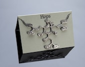 Hops Chemical Structure Necklace in Sterling Silver