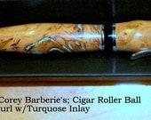 Cigar Roller Ball Pen Eucalyptus Burl
