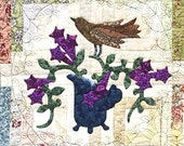 Birds and Tea Hand Embroidery / Applique Pattern - Creamer
