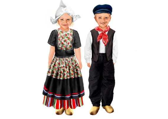 Children Around the World (the Netherlands) magnetic paper dolls