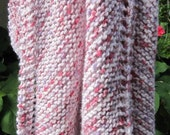 Reserved for Patty,,, Knit baby Blanket (pink candy colored) Free Shipping