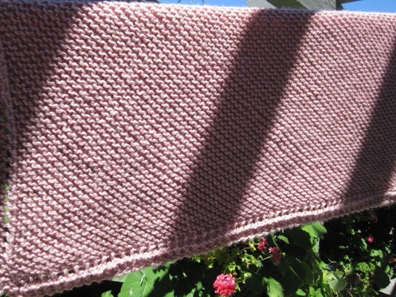 Reserved for Claire Robillard Knit baby Blanket (pale rose color)