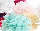 Your Color Choice - 5 Piece Paper Pom Set