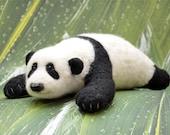 Panda Bear Needlefelted Toy Wool