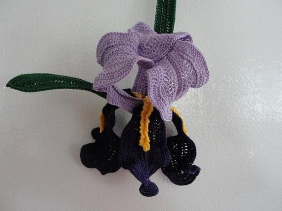 Crochet Iris Flower Pattern : Crochet Iris Pattern